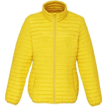 Textiel Dames Dons gevoerde jassen 2786 Fineline Helder geel
