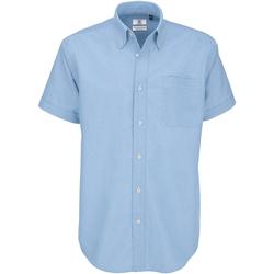 Textiel Heren Overhemden korte mouwen B And C Oxford Oxford Blauw