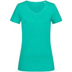 Textiel Dames T-shirts korte mouwen Stedman Stars Sharon Turquoise