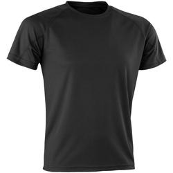 Textiel T-shirts korte mouwen Spiro Aircool Zwart