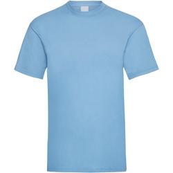 Textiel Heren T-shirts korte mouwen Universal Textiles Casual Lichtblauw