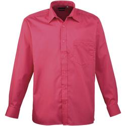 Textiel Heren Overhemden lange mouwen Premier Poplin Heet Roze