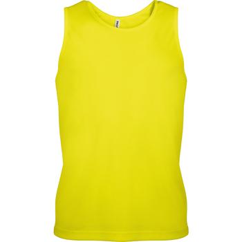 Textiel Heren Mouwloze tops Kariban Proact Proact Fluorescerend Geel