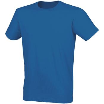 Textiel Heren T-shirts korte mouwen Skinni Fit Stretch Heideblauw