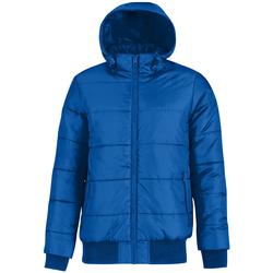 Textiel Heren Dons gevoerde jassen B And C Bomber Royal Blue/ Neon Orange