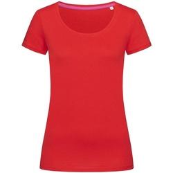 Textiel Dames T-shirts korte mouwen Stedman Stars Megan Karmijnrood
