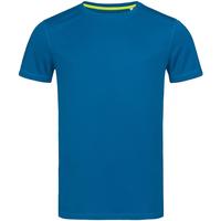 Textiel Heren T-shirts korte mouwen Stedman Mesh Blauw