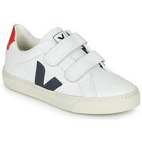 Schoenen Kinderen Lage sneakers Veja SMALL-ESPLAR-VELCRO Wit / Blauw / Rood