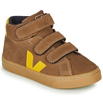 Schoenen Kinderen Hoge sneakers Veja SMALL-ESPLAR-MID Brown / Geel