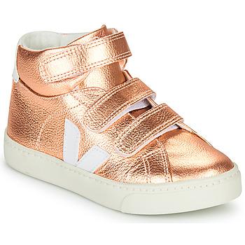 Schoenen Meisjes Hoge sneakers Veja SMALL-ESPLAR-MID Roze