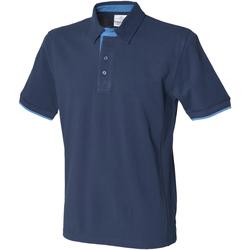 Textiel Heren Polo's korte mouwen Front Row Contrast Marine