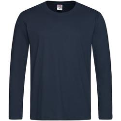 Textiel Heren T-shirts met lange mouwen Stedman Classics Donkerblauw