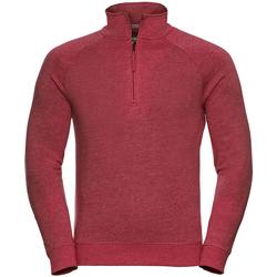 Textiel Heren Fleece Russell 1/4 Zip Rode mergel