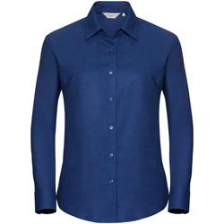 Textiel Dames Overhemden Russell Oxford Helder Koninklijk