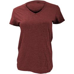 Textiel Dames T-shirts korte mouwen Anvil Basic Onafhankelijkheid Rood