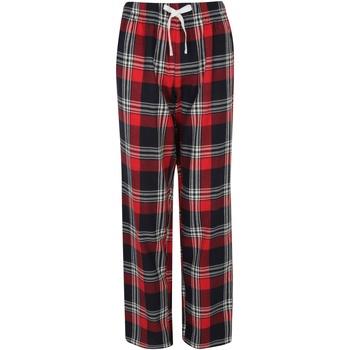 Textiel Dames Pyjama's / nachthemden Skinni Fit Tartan Rood/navy check