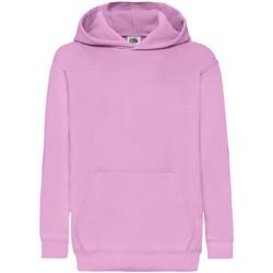 Textiel Kinderen Sweaters / Sweatshirts Fruit Of The Loom Hooded Licht Rose