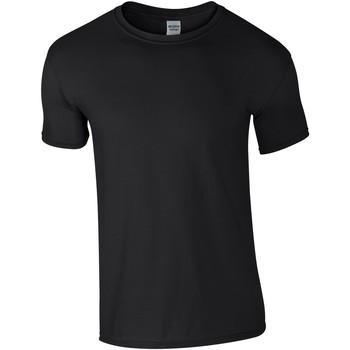 Textiel Heren T-shirts korte mouwen Gildan Soft-Style Zwart