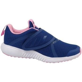 Schoenen Meisjes Running / trail adidas Originals Fortarun X CF K Jaune, Bleu marine