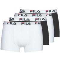 Ondergoed Heren Boxershorts Fila Pack de 4 Zwart / Wit