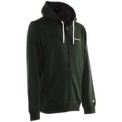 Textiel Heren Sweaters / Sweatshirts Champion Sweatshirt Full Zip Hooded Logo Groen