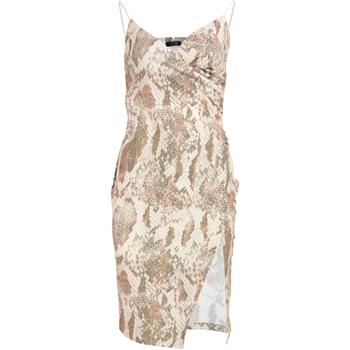 Textiel Dames Korte jurken Girls On Film  Slangenprint