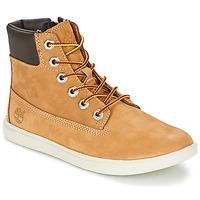Schoenen Kinderen Hoge sneakers Timberland GROVETON 6IN LACE WITH SIDE ZIP Graan