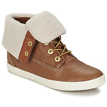 Schoenen Dames Laarzen Timberland GLASTENBURY FLEECE FOLD DOWN TAN