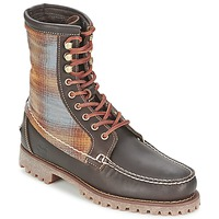 Schoenen Heren Laarzen Timberland AUTHENTICS 8 IN RUGGED HANDSEWN F/L BOOT Brown / Donker / Feutre