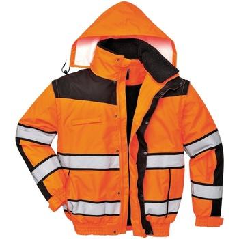 Textiel Heren Wind jackets Portwest PW332 Oranje/ Zwart