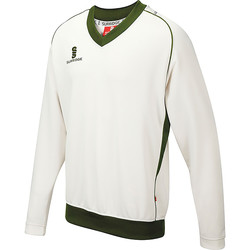 Textiel Heren Sweaters / Sweatshirts Surridge SU008 Wit/groen getrimd