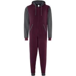 Textiel Jumpsuites / Tuinbroeken Comfy Co CC003 Bourgogne/Hardkolen