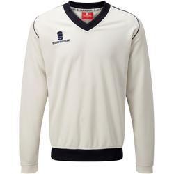 Textiel Heren Sweaters / Sweatshirts Surridge SU008 White/Marine afwerking