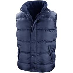 Textiel Heren Dons gevoerde jassen Result Padded Marineblauw
