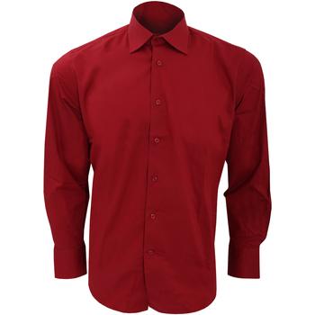 Textiel Heren Overhemden lange mouwen Sols Brighton Bourgondië