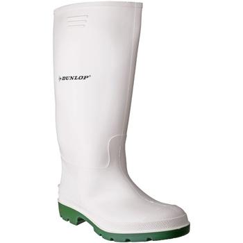 Schoenen Heren Regenlaarzen Dunlop  Wit/Groen