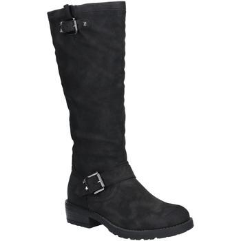 Schoenen Dames Hoge laarzen Divaz  Zwart
