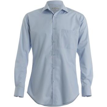 Textiel Heren Overhemden lange mouwen Kustom Kit KK113 Lichtblauw