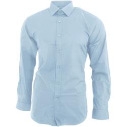 Textiel Heren Overhemden lange mouwen Brook Taverner BK130 Hemelsblauw