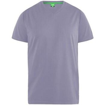 Textiel Heren T-shirts korte mouwen Duke Signature Bleke Druif