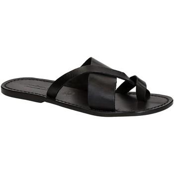 Schoenen Heren Slippers Gianluca - L'artigiano Del Cuoio 545 U NERO CUOIO nero