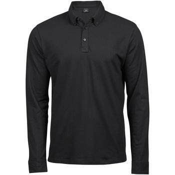 Textiel Heren Polo's lange mouwen Tee Jays Stretch Zwart