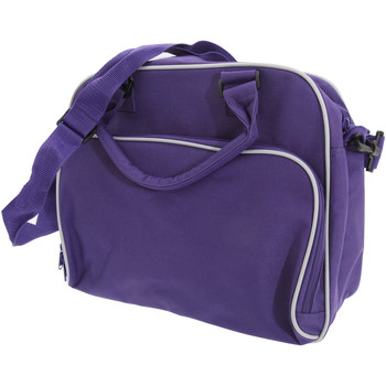 Tassen Kinderen Schooltassen Bagbase BG145 Paars/lichtgrijs