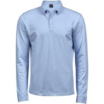 Textiel Heren Polo's lange mouwen Tee Jays Stretch Lichtblauw