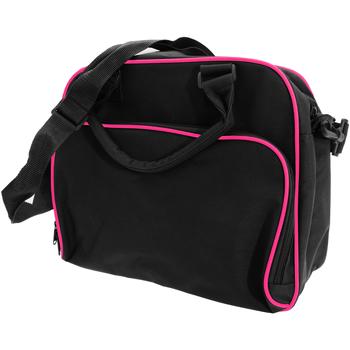 Tassen Kinderen Schooltassen Bagbase BG145 Zwart/Fuchia