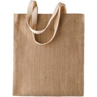 Tassen Dames Tote tassen / Boodschappentassen Kimood KI009 Natuurlijke/Cappucino