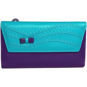 Tassen Dames Portemonnees Eastern Counties Leather  Turquoise/Purper