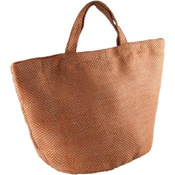 Tassen Dames Tote tassen / Boodschappentassen Kimood KI008 Natuurlijk/Saffraan