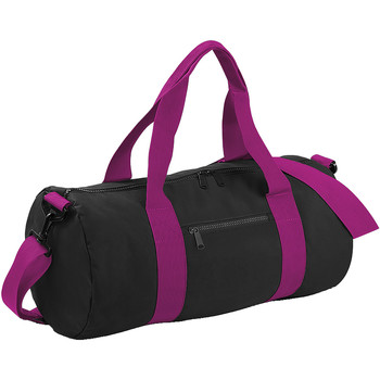 Tassen Reistassen Bagbase BG140 Zwart/Fuchia