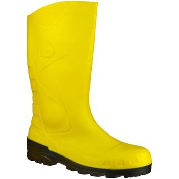 Schoenen Regenlaarzen Dunlop DEVON  WELLY Geel/zwart
